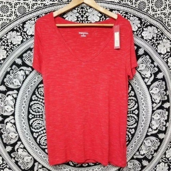Merona T Shirt Ultimate Stretch Red